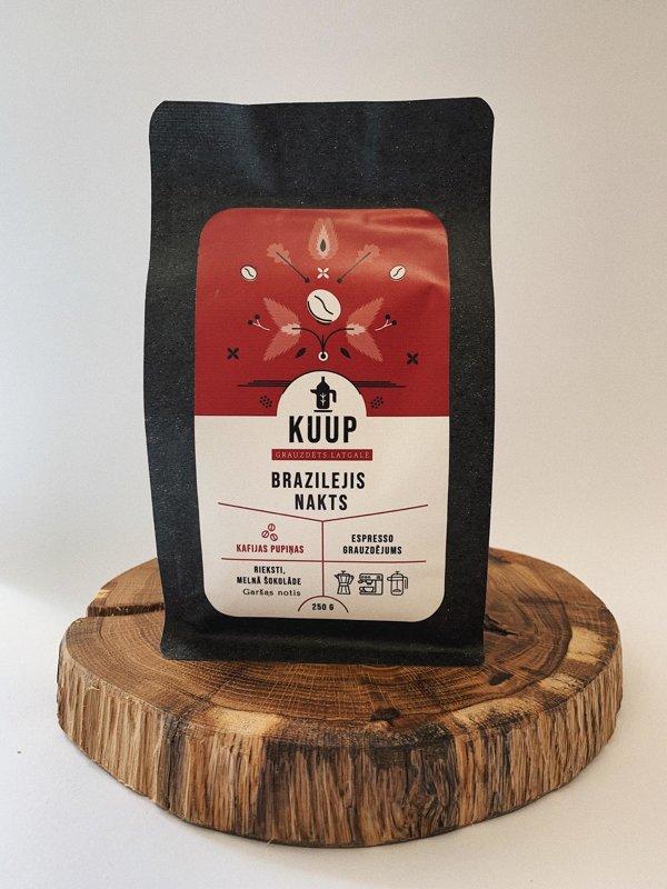 Kaffee Brazilejis Nakts 250g (pupiņas)