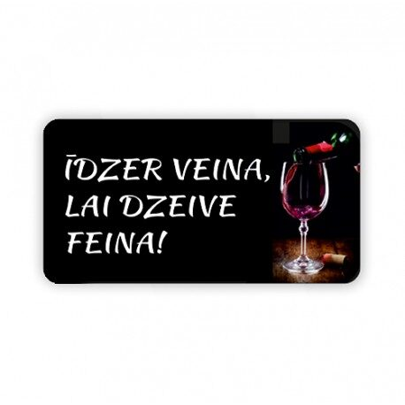 Magnētiņš - Īdzer veina, kai dzeive feina!