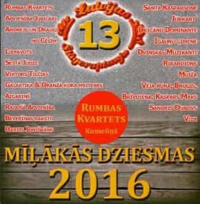Mīļākās dziesmas 2016 (Latvijas šlāgeraptaujas izlase Nr. 13)