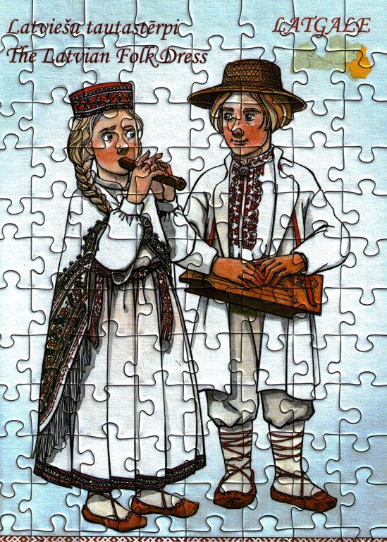 Puzzle latviešu tautastērpi - Latgale