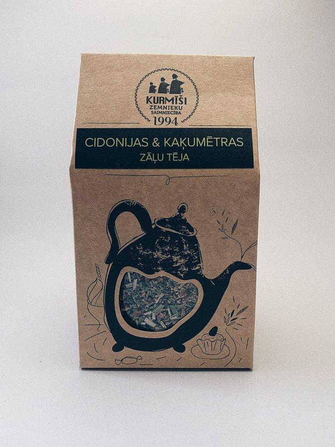 Айва (Cydonia oblonga) и коша́чья мя́та  (Nepeta cataria) - травяной чай