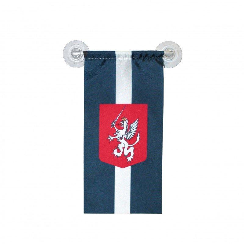 Latgales karogs (vertikāls, ar 2 lipekļiem)