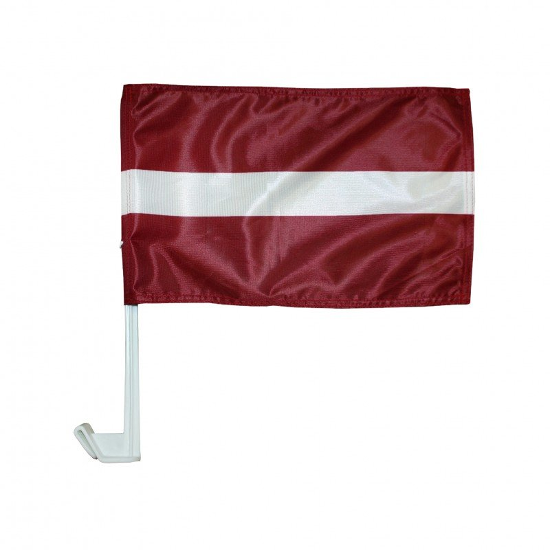 Latvijas karogs (ārpusē pie mašīnas stikla)