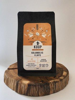 Kaffee Kolumbejis Flirts 250g (pupiņas)